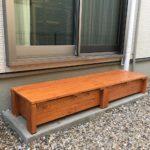 ステップ 兼 ベンチ 兼 収納(雨漏り対策)